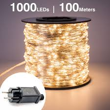 1000 Led Outdoor Christmas Lights Us 7 95 25 Off 100m 1000 Led Silver Wire Fairy String Lights Wateproof Plug In Adapter For Tree Outdoor Christmas Holiday Wedding Decoration In Led