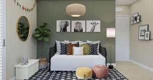 an eclectic kids bedroom