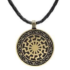 ttkp black sun viking pendant viking necklace norse viking jewelry sonnenrad amazon