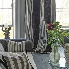 Designers Guild Darly Upholstery Fabric For Curtains Striped Floral Pattern Astrakhan Designers Guild
