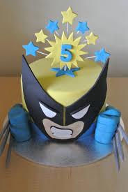 Superhero Cake Design Wolverine Superhero Birthday Party Superhero Cake Boys