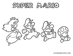 Super Mario Bros Coloring Pages Printables Mortalityscoreinfo