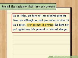 Delinquent Account Letter Template How To Write A Payment Reminder 13 Steps With Pictures