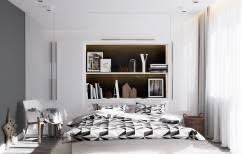 formidable small bedroom design ideas highlighting low profile wooden beds in white finishing on fur rugs amusing white bedroom design fur rug