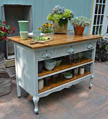 Kitchen Island Farmhouse Old Dresser Converted To Kitchen Island Painting Inspiration
