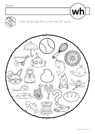 Students match letters representing the beginning sound of words to pictures. Wh Digraph Worksheet First Grade Printable Worksheets And Activities For Teachers Parents Tutors And Homeschool Families