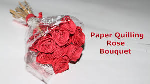 Paper Quilling Flower Bokeh How To Make Paper Quilling Rose Bouquet Romantic Valentine Day Gift