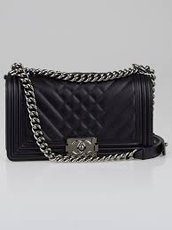 Chanel Black Chevron Quilted Lambskin Leather Medium Boy Bag ... & Chanel Black Chevron Quilted Lambskin Leather Medium Boy Bag Adamdwight.com