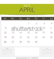 Free Downloadable Monthly Calendar 2015 2015 Calendar Monthly Calendar Template April Royalty Free