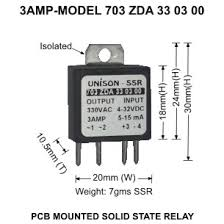 welcome to unison controls pvt unisoncontrols com images products pcb mounted solid state relay dc to ac model 703 dc to ac p c b mounted ssr