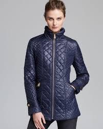 Lyst - Via spiga Coat Quilted in Blue & Gallery Adamdwight.com