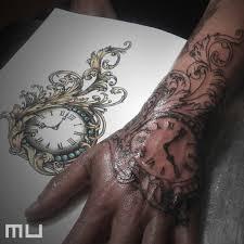 Tetování Hodiny A Filigree Tetování Tattoo