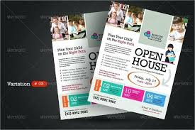 School Open House Flyer Template Photos Graphics Fonts Themes