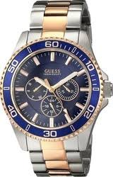 guess men s watches compare prices on scrooge co uk guess men s two tone rose gold tone watch blue