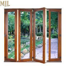 hot new design frameless bifold glass door for veranda