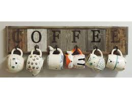 reclaimed wood mug rack urban rustic. rustic barnwood 6 hook coffee cup mug rack holder wall county cabin kitchen reclaimed wood urban c