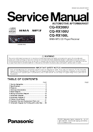 panasonic cq rx100l rx100u rx200u sm service manual download Panasonic CQ Rx100u Installation at Panasonic Cq Rx100u Wiring Diagram