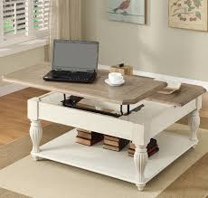 ... Coffee Table, Captivating White Rectangle Industrial Wood Two Tone Coffee  Table With Storage Ideas Which ...