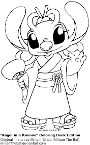 Lilo And Stitch Coloring Pages To Print For Adult