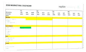 Marketing Calendar Template Excel Examples Download New
