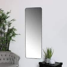 tall black wall floor leaner mirror