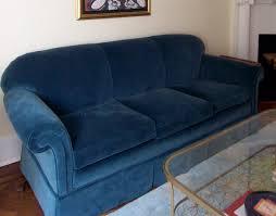 blue velvet sofa upholstery