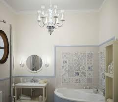 classic pendant chandelier bathroom lighting ideas for small bathrooms