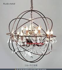 rh chandeliers modern vintage orb crystal chandelier lighting rustic candle chandeliers led pendant hanging light for