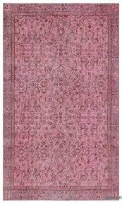 pink over dyed turkish vintage rug 4 11 x 8