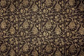 Floral Brocade Floral Brocade Gold On Black