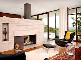 furniture handsome blue midcentury modern living room mid century fireplace inserts dpdarlene molnar fireplaceh fireplaces