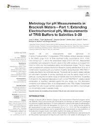 Pdf Metrology For Ph Measurements In Brackish Waters Part 1