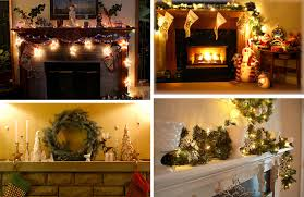 fireplace christmas decorating photos
