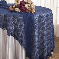 108 round tablecloth elegant 108 round lace table overlays navy blue 1pc pk