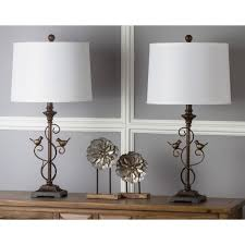 safavieh lighting 28 inch bird oil rubbed bronze table lamp set of 2