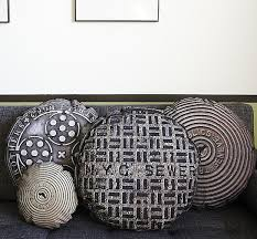 urban accents furniture. if itu0027s hip here archives urban accents manhole and sewer cover throw pillows by in the seam furniture