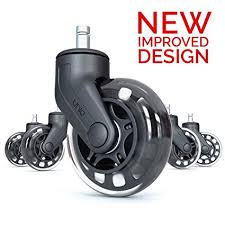 office chair caster wheels perfect replacement for desk floor mat heavy duty safe