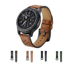 22mm genuine leather strap band for samsung gear s3 frontier classic smart watch bracelet watchband smarch wrist belt esq watch bands cool watch bands