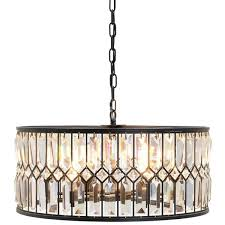 iron and crystal drum chandelier crystal drum chandelier home pictures