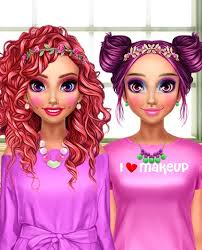 sisters rainbow fashion f pink makeover