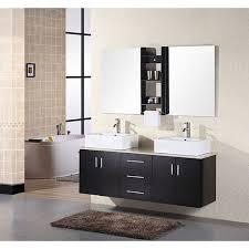 double vessel sink vanity. design element contemporary double sink bathroom vanity with vessel sinks