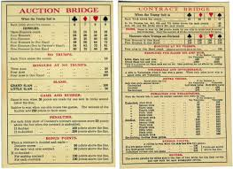 Contract Bridge Scoring Chart Wills Scheme Page 2 The World Of Playing Cards