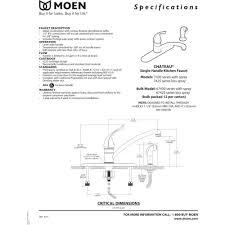 Pegasus Kitchen Faucet Repair Moen Single Handle Kitchen Faucet Repair Diagram Mosaickitchencom