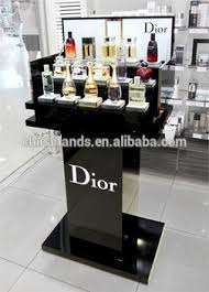 Acrylic Perfume Display Stand Supply Shop Display Furniture Black Polish Acrylic Perfume Display 50