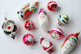 Vintage Christmas Glass Ornaments and Illustrations