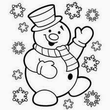 Five Cute Christmas Coloring Pages For Kids Free Christmas