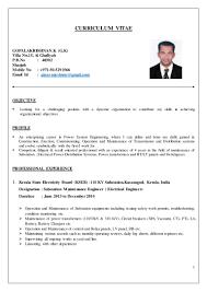 Resume Electrical Engineer Building Construction Sugarflesh
