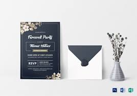 Invitation Cards For Farewell Party Farewell Party Invitation Card Design Template In Word Psd Publisher