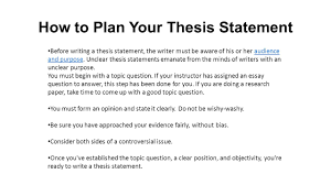 what is a thesis statement ppt video online  how to plan your thesis statement