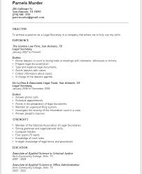 Legal Secretary Resume Samples Legal Assistant Resume Template Legal ...